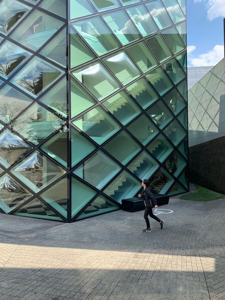 Prada glass building - Must See!