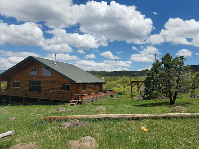 Remote, Private Log Home w/Trees & Stunning Views