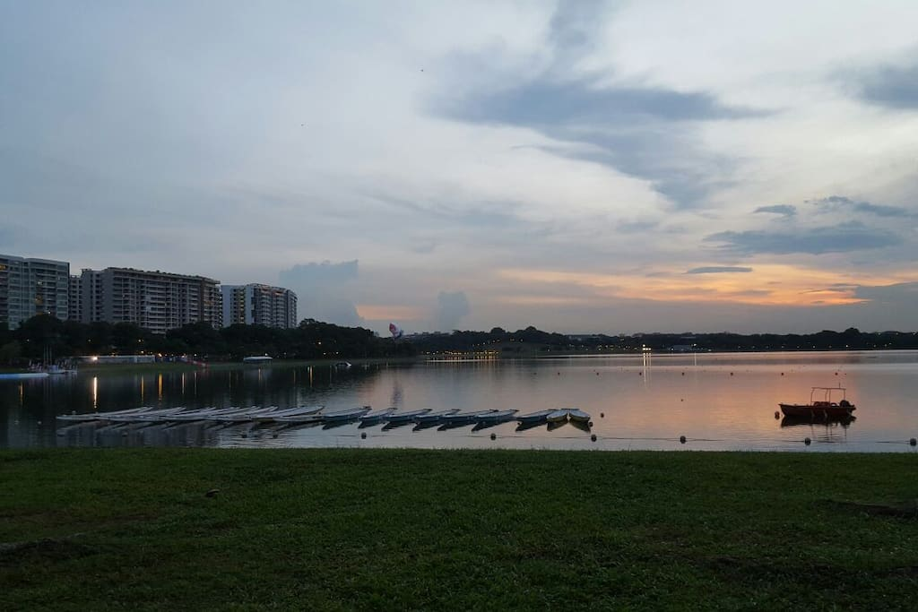 lovely 4.5km walking track around the reservoir right next to the condo