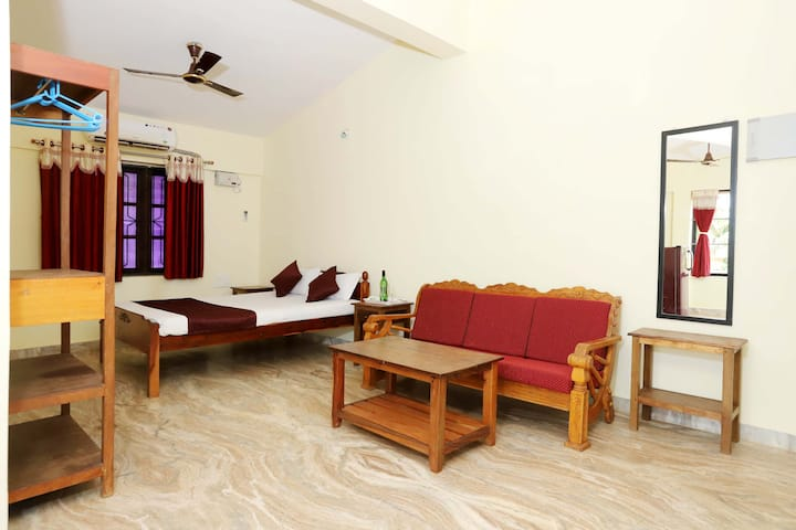 1 Bedroom  Apartment with kitchen  at Morjim beach