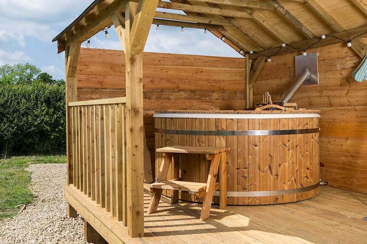 Your own private wood fired hot tub