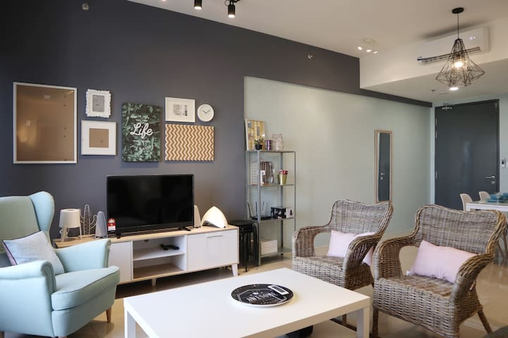 TIFFANY | Sweet 2BR Urban Home | 舒适时尚城市公寓套房