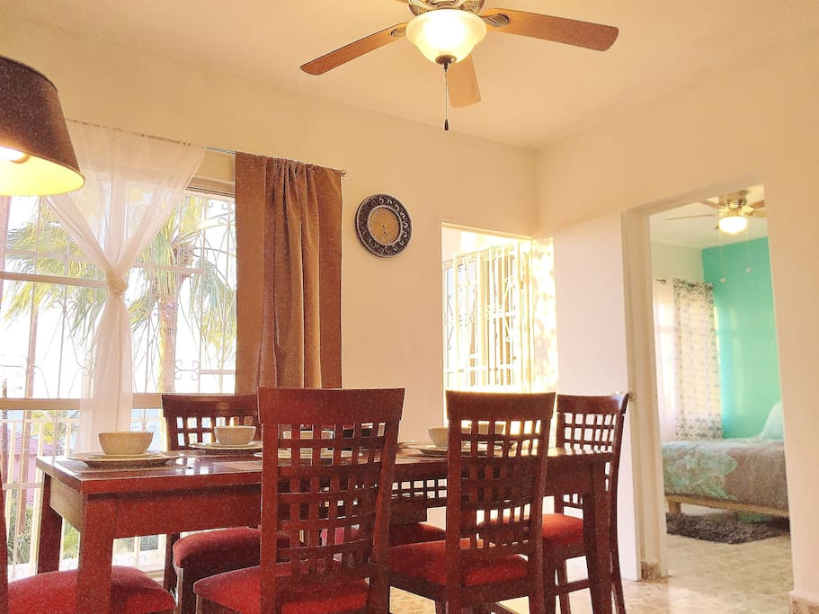 24/39: Casa Pekin is one of our favourite ones. it is a 3BR condo with a great view to the sea, just half a block from the sea, 2 Tvs fully equipped kitchen and a nice dinning room to enjoy with family or friends, it accomodates up to 6 people.