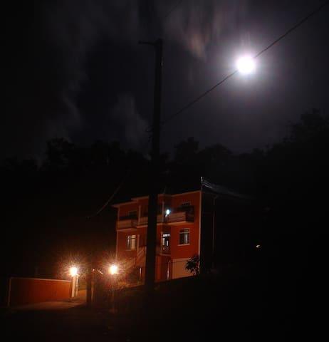Full moon shining on Case  De la Rosa.