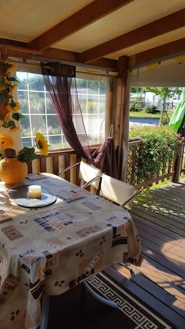 Apremont Vendee holiday mobile home.