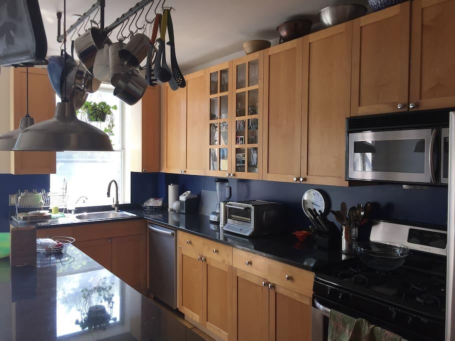 Modern, spacious kitchen