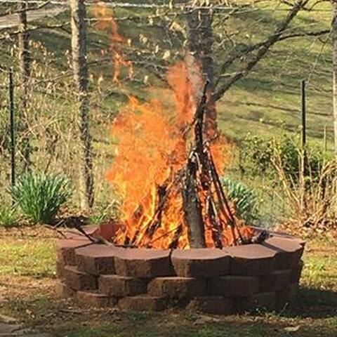 Firepit close by the Suite.