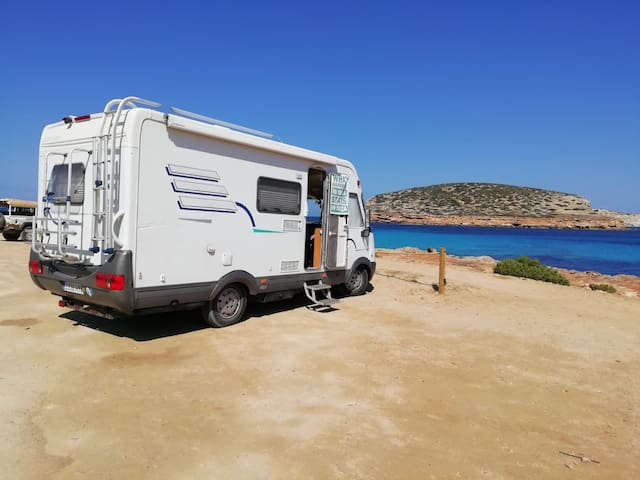 Sharing campervan bed and breakfast in ibiza