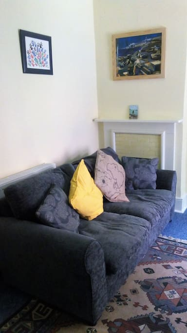 Sofabed in living area