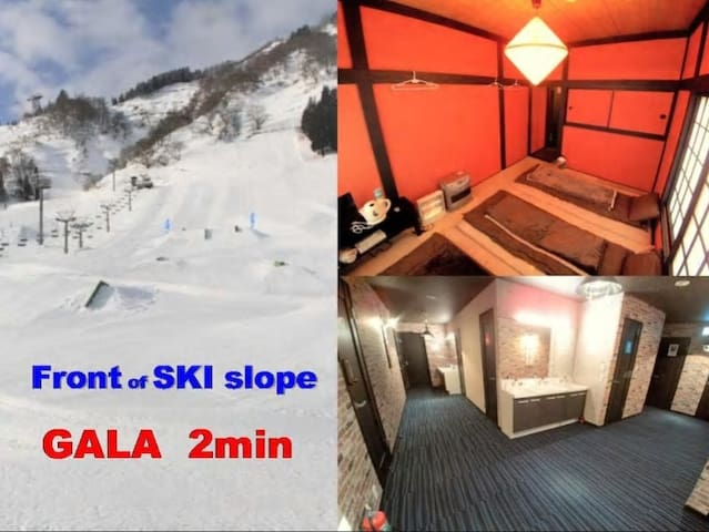 RM① Right in front of ski slope!!near GALA!wifi