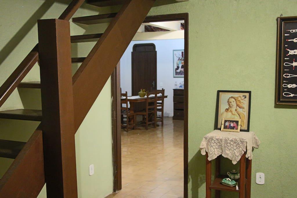 Escada para o segundo andar