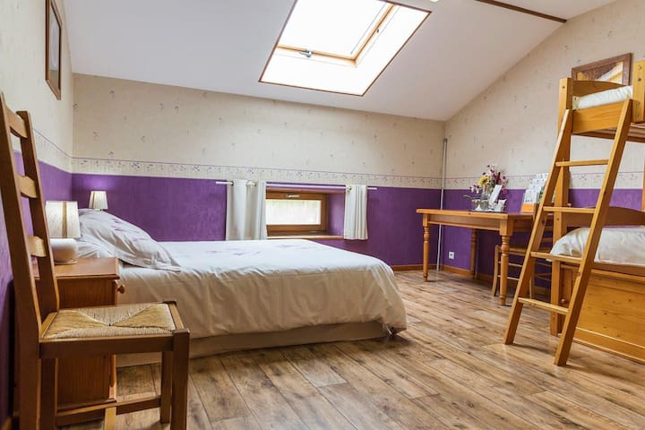 Chambre quadruple AuCoin desJardins - Pareid - Bed & Breakfast
