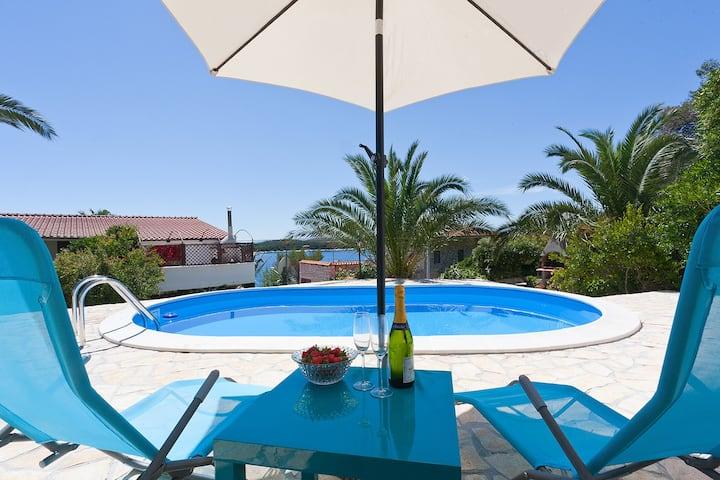 Villa Bella Hvar - pool & sea view