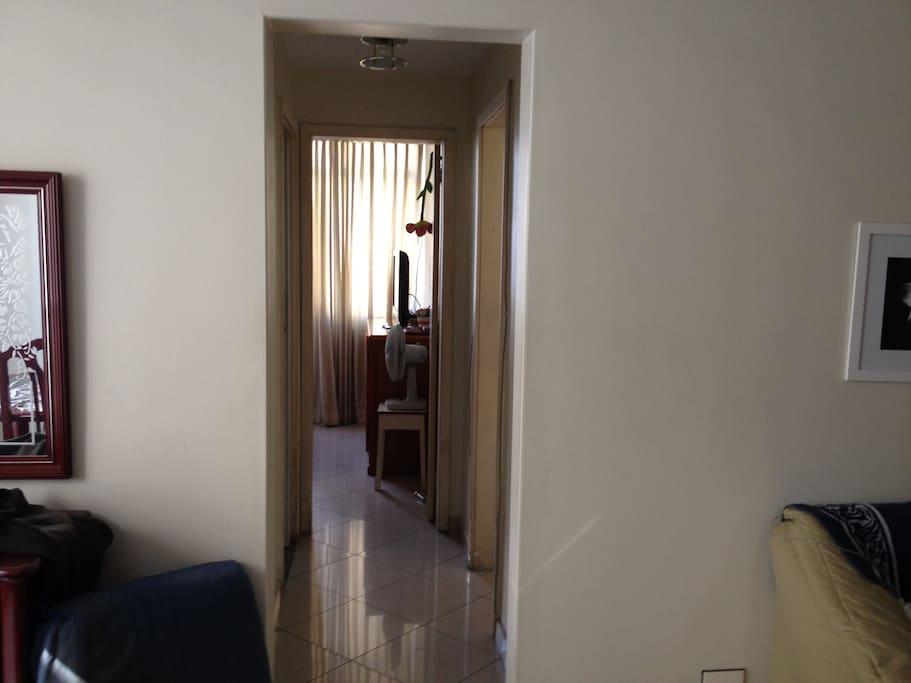 Livingroom and hallway