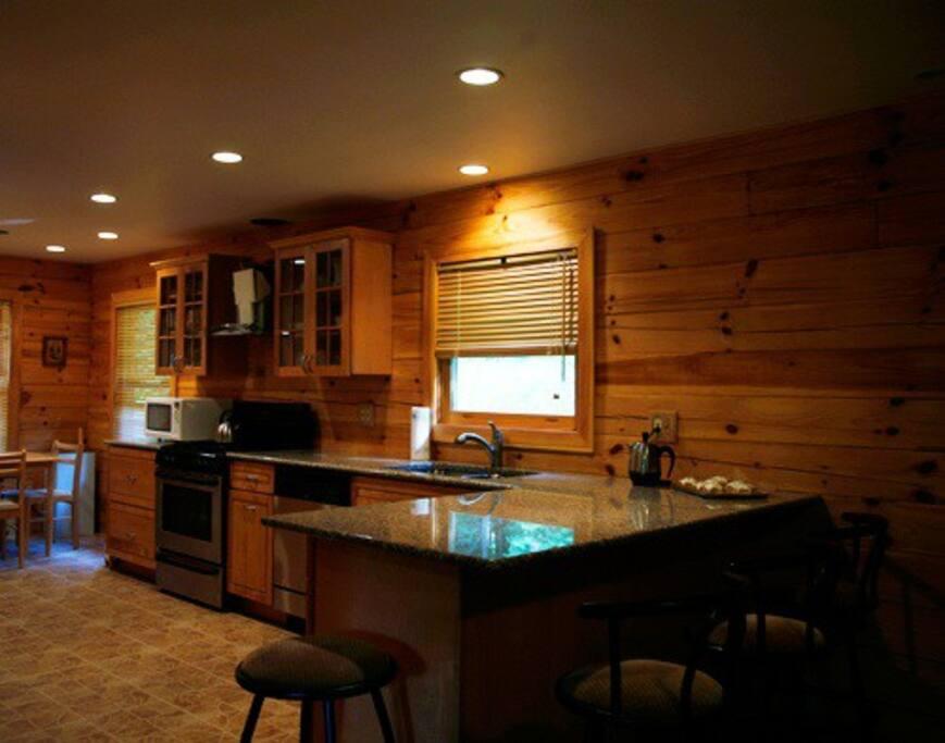 Granite Kitchen and Bathrooms.