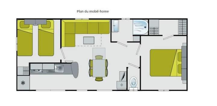 Mobil-home 6 pers sur Camping 4* Domaine de Dugny