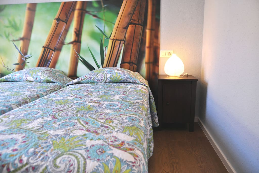 2 comfortable independant 90cmx200cm beds. Bedroom with little balcony (5 m2)