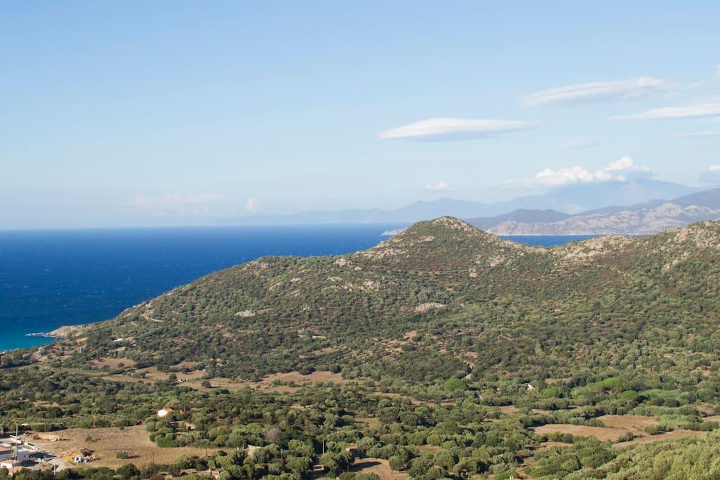 Vue sur le Cap Corse depuis la terrasse