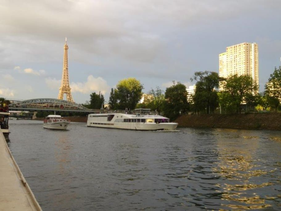 eiffel tower city center houseboat houseboats for rent. Black Bedroom Furniture Sets. Home Design Ideas