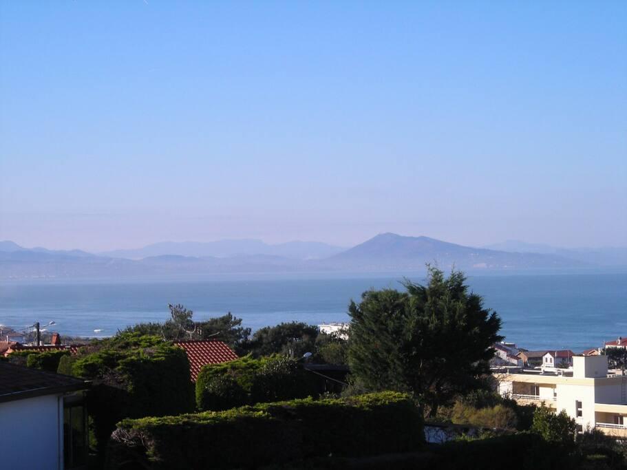 Vue depuis le balcon au sud-ouest