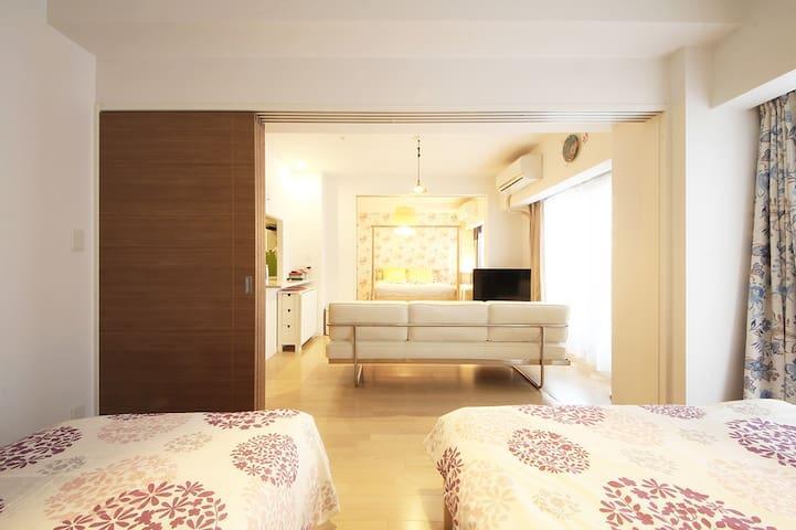 OSAKA Airport pick-up & Dotonbori 1min   Premium Apartment   Nihonbashi Station 1 min   3BR