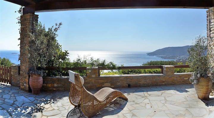 Stylish villa Philinna, location-amazing pool-view