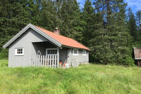 Koselig hytte på Krokskogen ved Løvlia (Nordmarka)