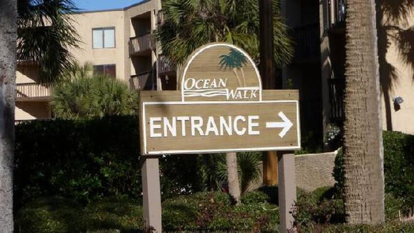 Entrance sign for Ocean Walk