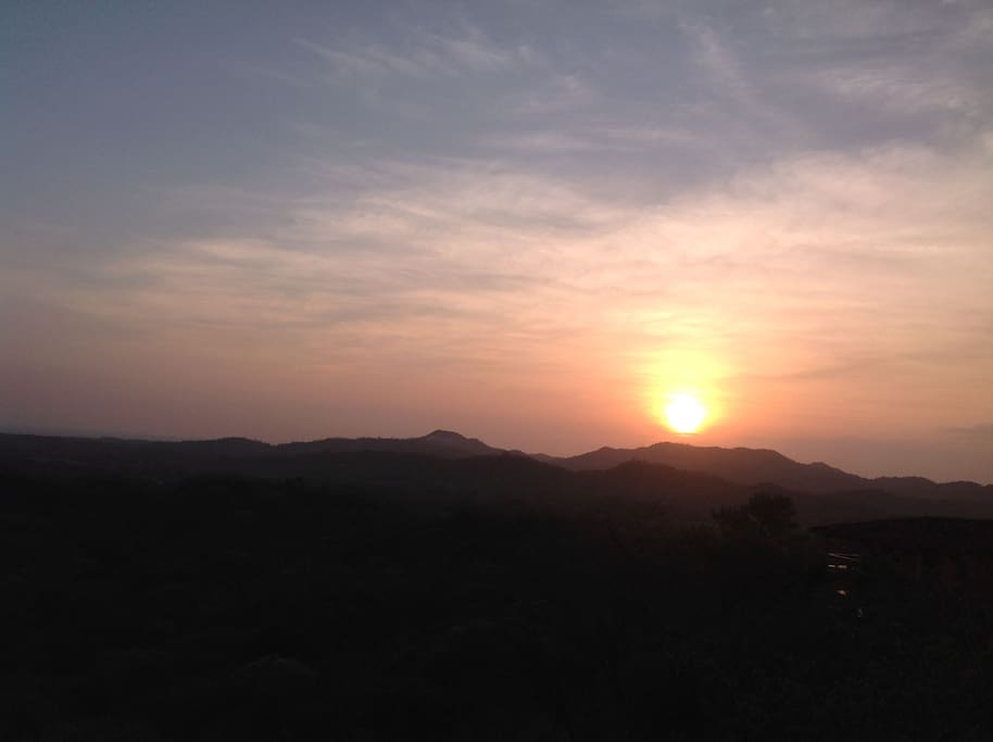 View spectacular sunset every evening.