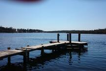 50 Metres to this lovely wharf, catch your dinner every night. Or just enjoy swimming from it.