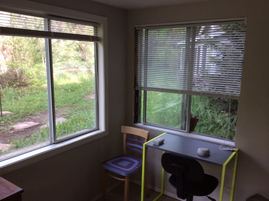 Cottage Sunroom looking out onto front yard.