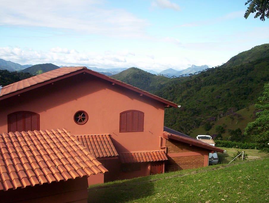 Villa Ganesh com vista para montanhas