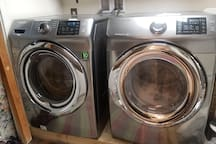 Complimentary use of washing machine and dryer