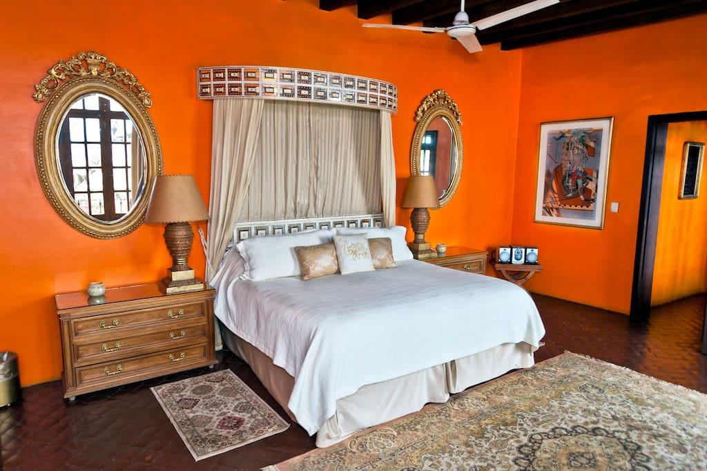 @CasaSchuck .. El Royal Suite .. Full bath, Private Terrace, Large Closet, Cantera Fireplace, Amazing views