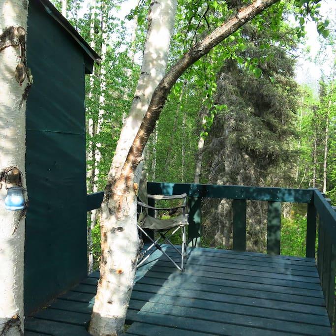 Deck for sunbathing