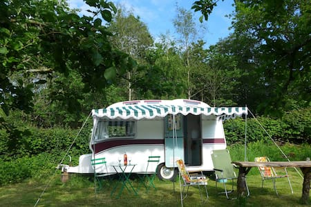 Stay in a Ruby a Vintage Caravan - Umberleigh