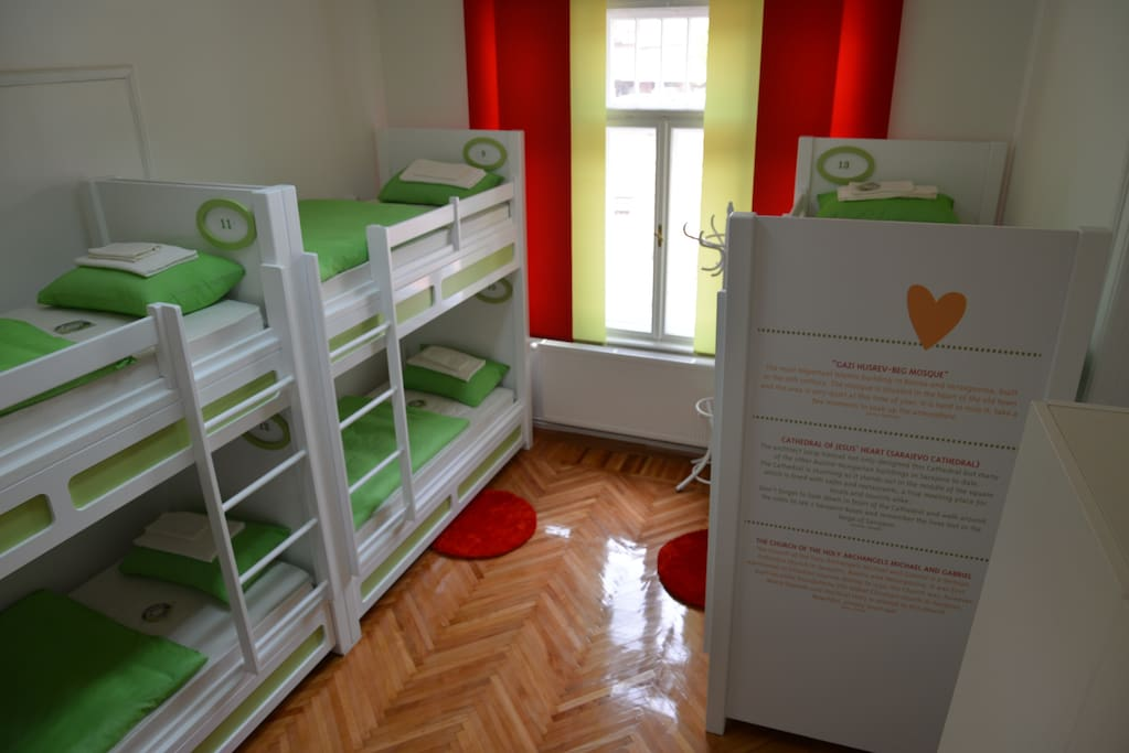 8-bed dormitory room