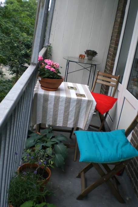 Cosy balcony with afternoon sun