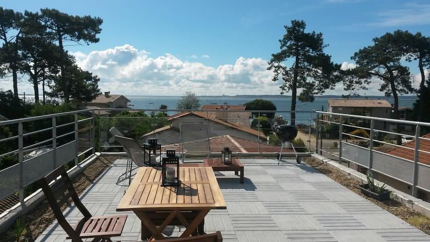 Duplex Toit Terrasse vue bassin - Cap Ferret - Apartemen