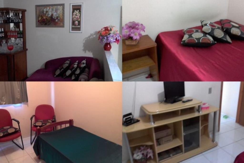Sala de estar e segundo quarto anfitrião