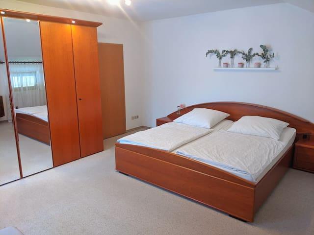 Bedroom 1: Super king bed (2x2m) and big wardrobe