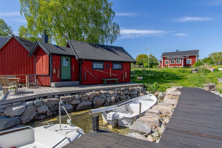 Unique accommodation on an island - Karlshamn N - Casa