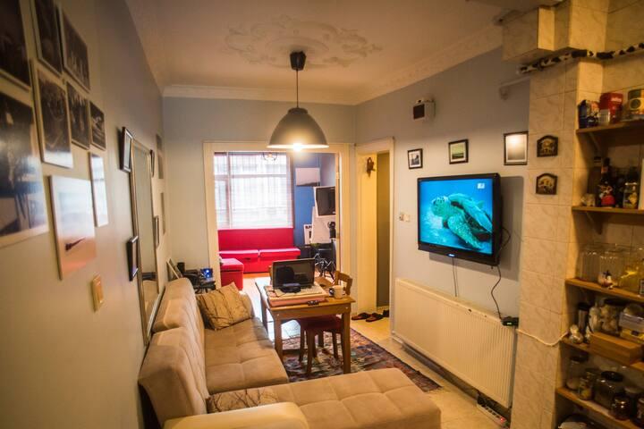 Central&Peacefl Room| Flat |Walk Evrywhre Kadıköy