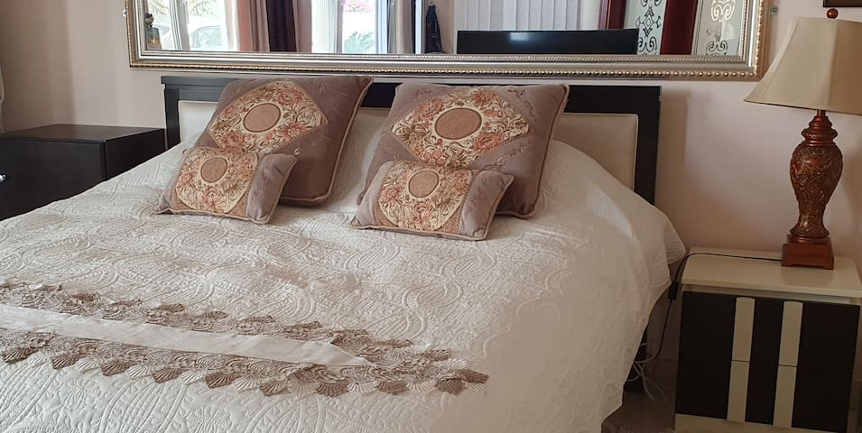 Bedrooms with comfortable memory foam top matresses. Wide spacious rooms with ensuite bathrooms