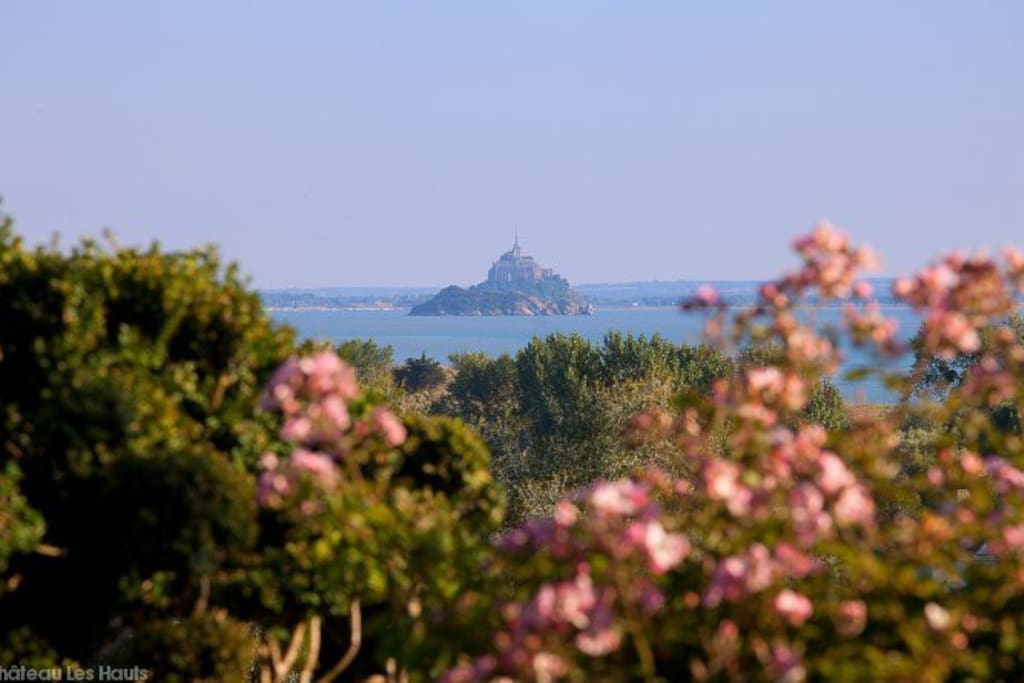 Magnificent view onto the Mont Saint Michel from the garden