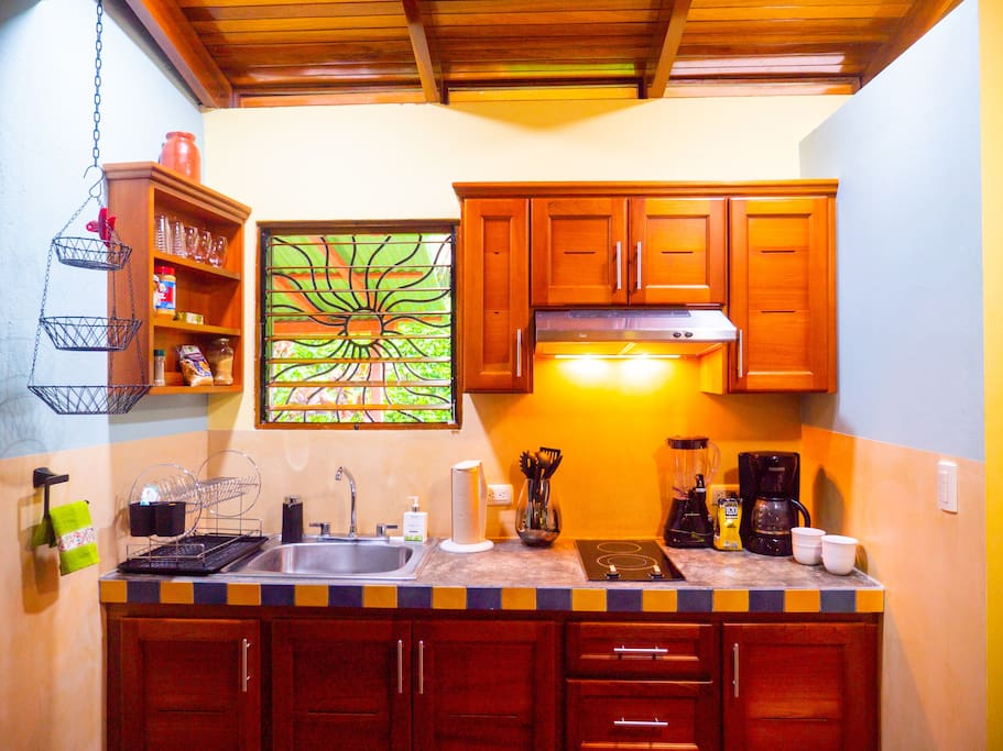 Fully outfitted kitchen to prepare your own meals and save $$