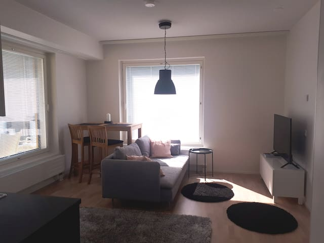 New, scandinavian style apartment near lake