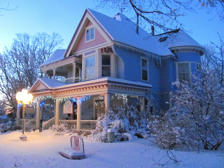 Our B&B is a cozy retreat in the wintertime.