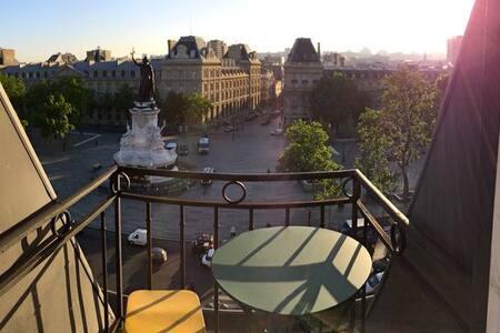 Appartement Marais avec vue