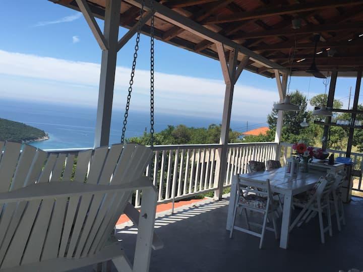 vakantiehuis met uitzicht op zee maximaal 6 pers.